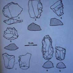 Buriles y denticulados de Sorbe V