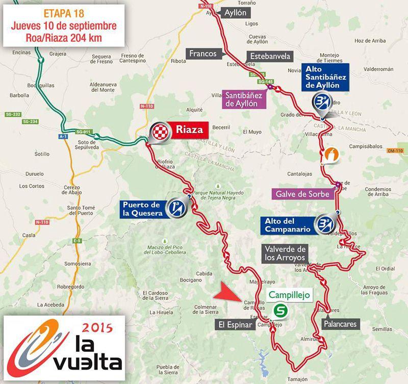 La Vuelta Ciclista en la Sierra Norte de Guadalajara (1/2)