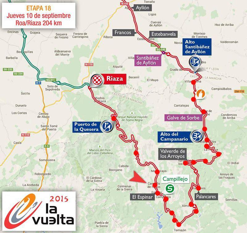 ¿Donde ver la Vuelta en  la Sierra Norte?