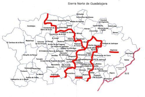 160603 Plano territorio Sierra Norte Guadalajara